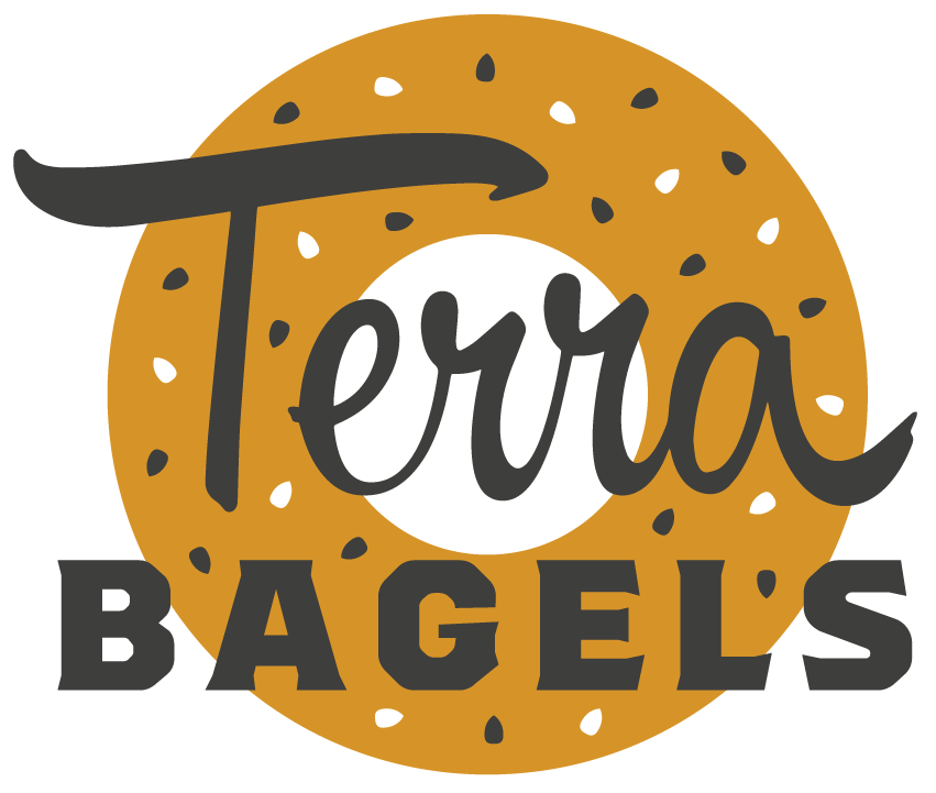 Bagels. Schmear. Coffee. Love. | Terra Bagels Logo
